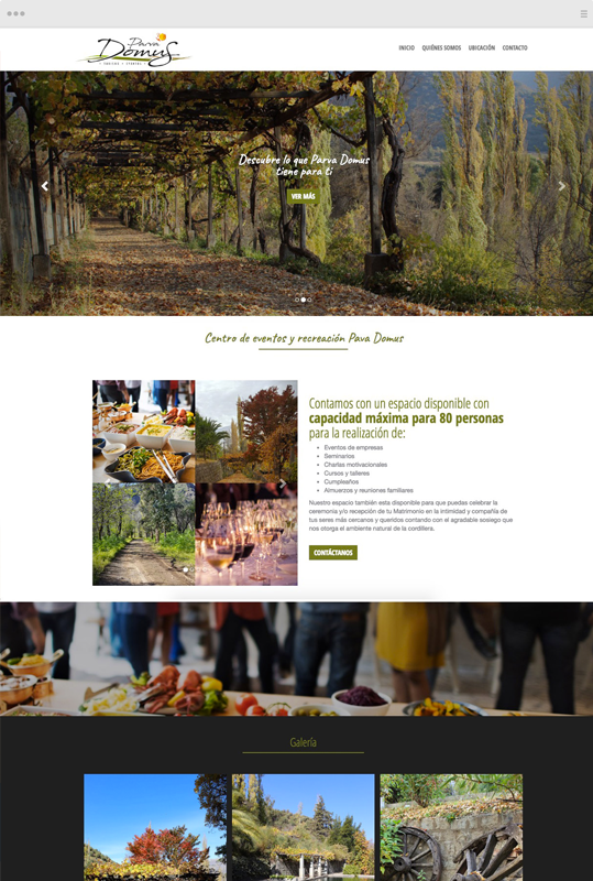 sitio web one page scroll